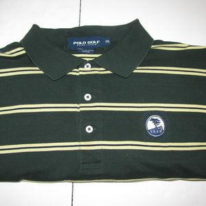 Polo Golf Shirt Striped Ralph Lauren Mens XXL